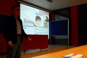 Jerús Navarro Faus en un momento de la conferencia